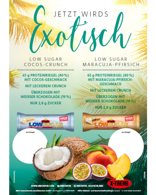 Flyer X-TREME Low Sugar Riegel Coconut-Crunch & Maracuja-Peach Crunch