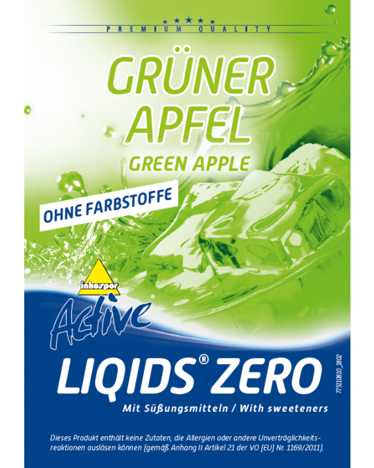 Active Liqids® Zero 1:30  Bag in Box Green Apple(ohne Farbstoff)