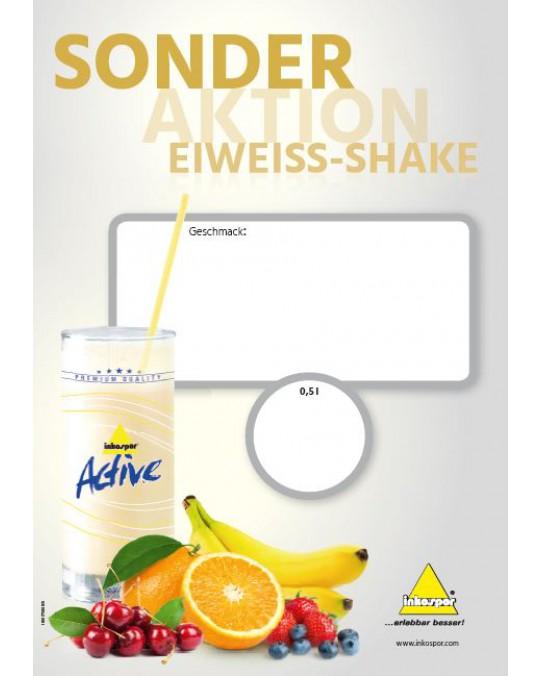 Flyer Sonderaktion Eiweiß DIN A4 0,5 l Shake