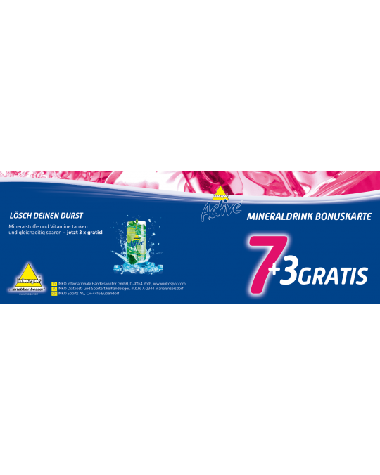 Mineraldrink Bonuskarte 7+3