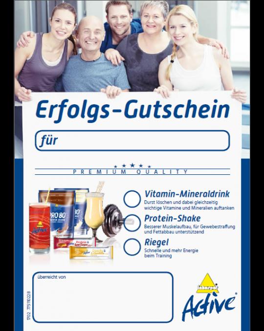 Active — Erfolgs-Gutschein DIN A6 mit Rezept