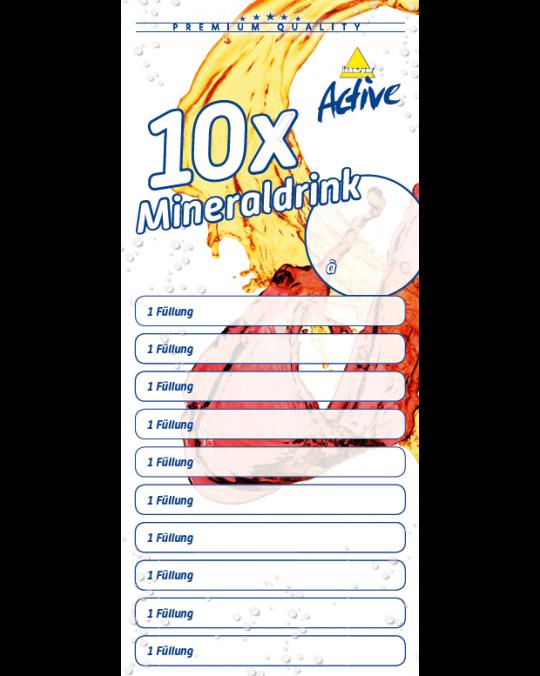Mineraldrink 10er Verzehrkarte